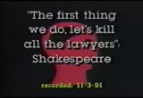 Still frame from: The First Thing We Do, Let's Kill All The Lawyers: Shakespeare