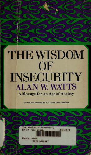 The wisdom of insecurity.