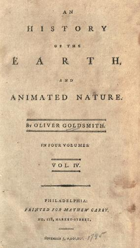An history of the earth, and animated nature