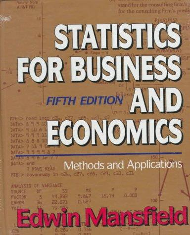 Download Statistics for business and economics