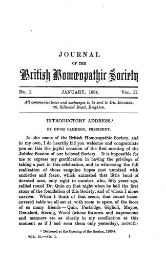 The Journal of the British Homoeopathic Society