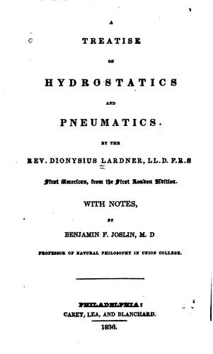 A Treatise on Hydrostatics and Pneumatics