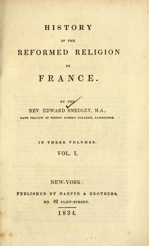 Download History of the reformed religion in France