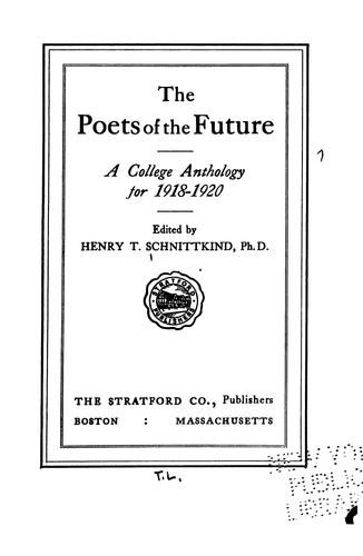 The Poets of the Future: A College Anthology.