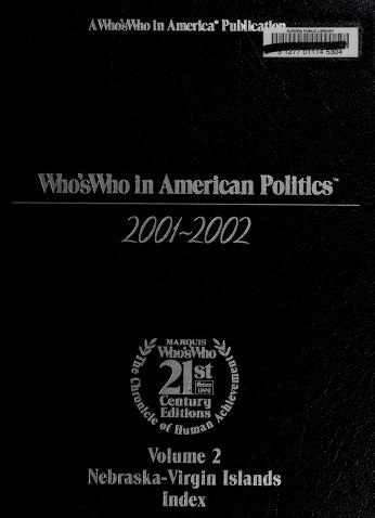 Cover of: Who's who in American politics   Paul A. Theis