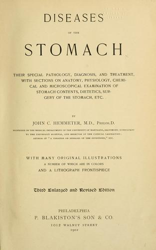 Diseases of the stomach by John C. Hemmeter