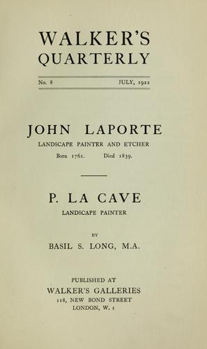 John Laporte by Long, Basil S.