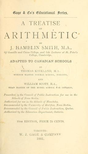 A treatise on arithmetic by J. Hamblin Smith