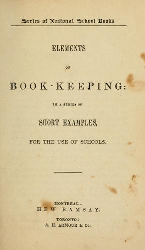 Elements of book-keeping by