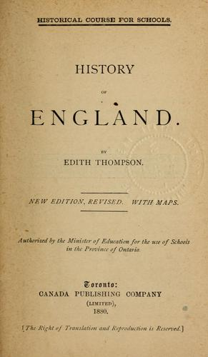 History of England by Edith Thompson