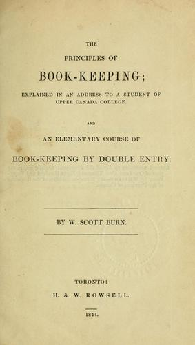The principles of book-keeping by W. Scott Burn