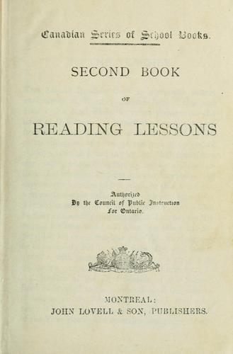 Second Book of Reading Lessons by