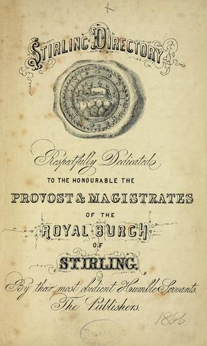 Threepenny guide & directory for Stirling, Bridge of Allan, etc by Directories. - Stirling, Town of