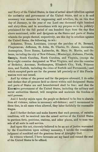 A proclamation by United States. President (1861-1865 : Lincoln)