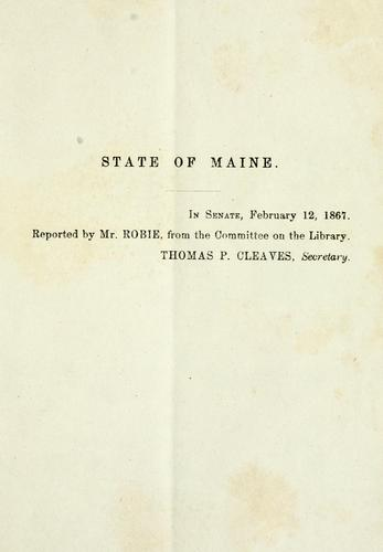 Resolve in favor of procuring a suitable portrait of Abraham Lincoln, late president of the United States by Maine. Legislature. Senate
