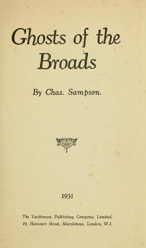 Ghosts of the Broads by Charles Sampson