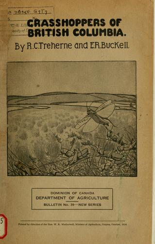 Grasshoppers of British Columbia by R.C. Treherne