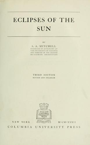 Eclipses of the sun by Mitchell, S. A.