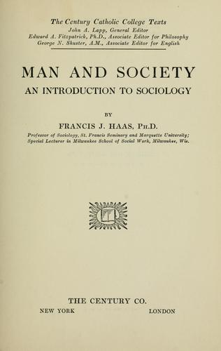 Man and society by Francis J. Haas