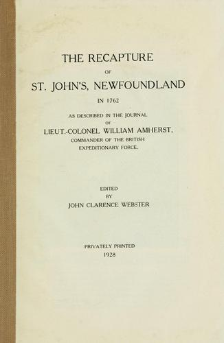 Recapture of St. John's, Newfoundland in 1762 by William Amherst