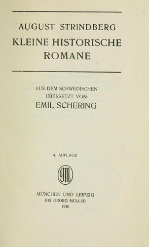 Kleine historische Romane by August Strindberg