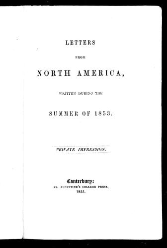 Letters from North America by Allen Page Moor