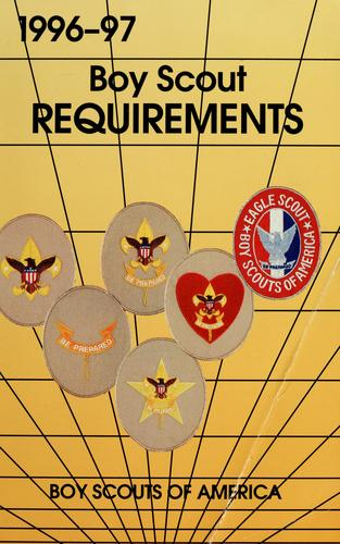 Boy Scout requirements by Boy Scouts of America
