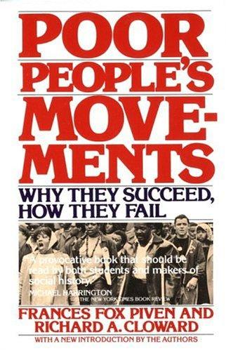 Poor people's movements by Frances Fox Piven