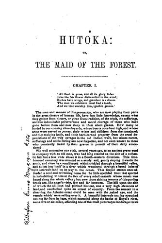 Hutoka: Or, The Maid of the Forest: a Tale of the Indian Wars by Osgood Bradbury