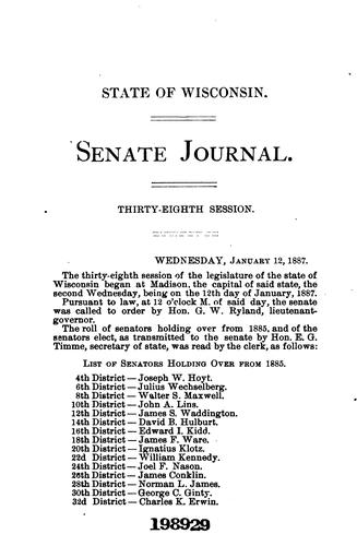 Journal of Proceedings by Wisconsin Legislature . Senate