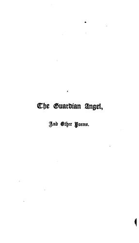 The guardian angel, and other poems by George Frederick De Teissier
