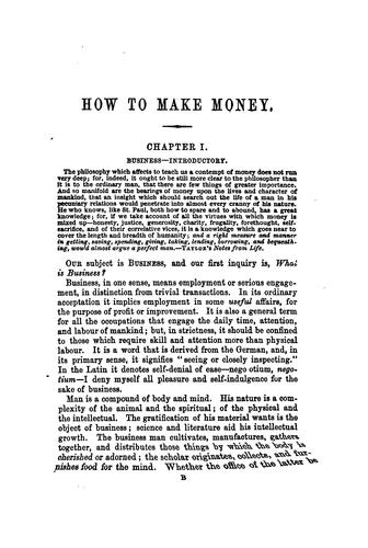 How to make money by Edwin Troxell Freedley