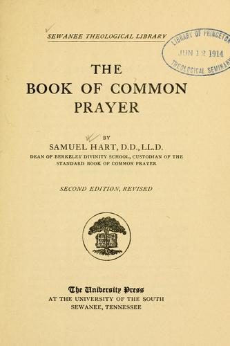The book of common prayer by Samuel Hart